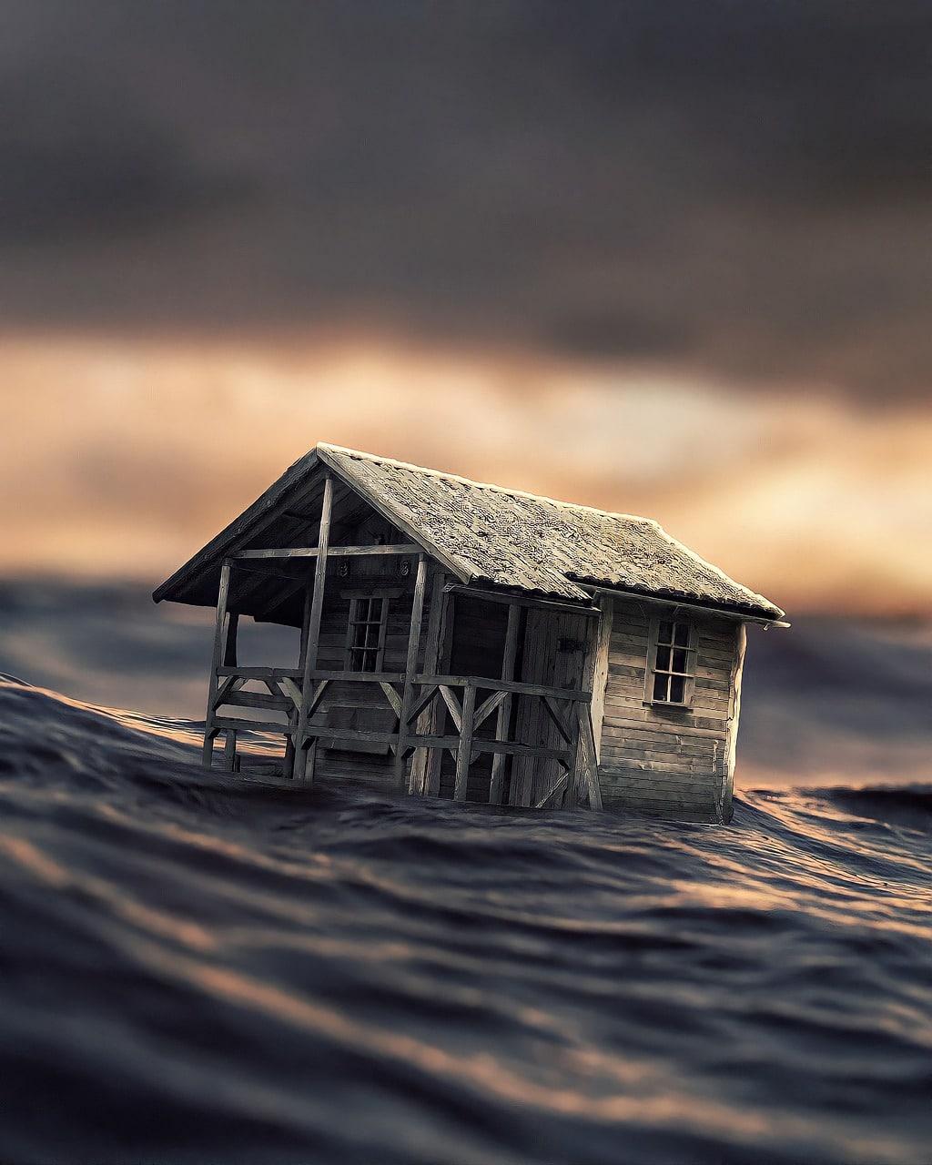 House Water Fantasy Floating  - creativeralph / Pixabay